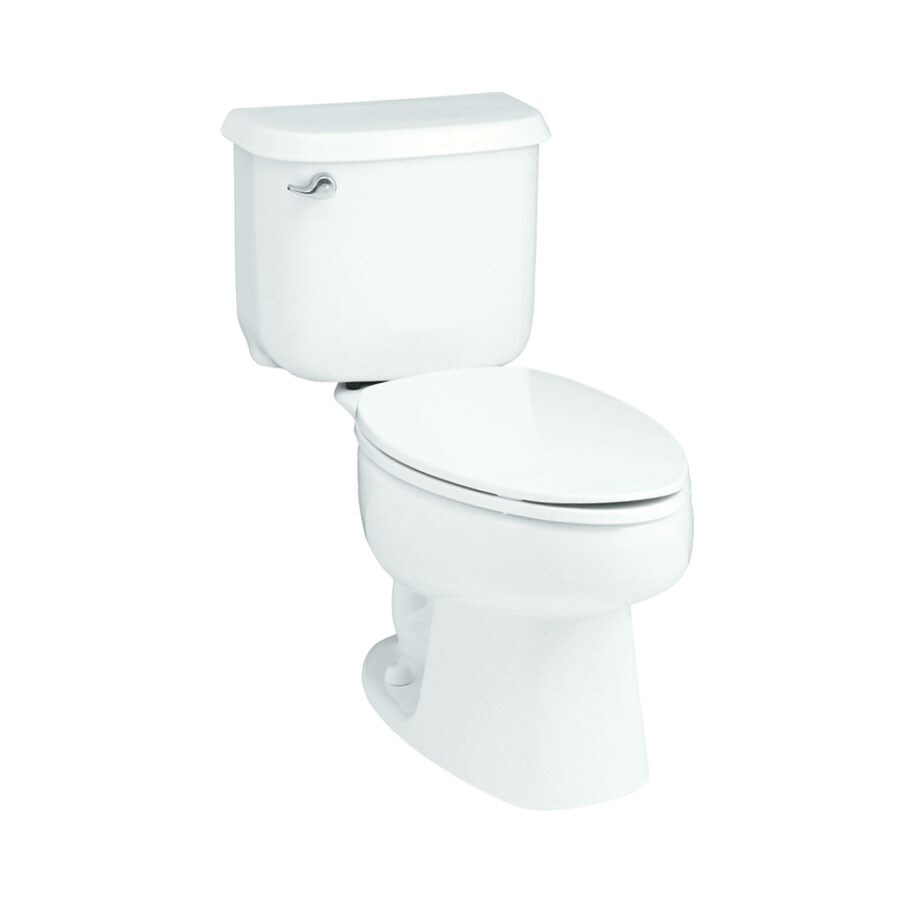 Sterling Windham White 1.6-GPF (6.06-LPF) 12 Rough-In Elongated 2-Piece Standard Height Toilet