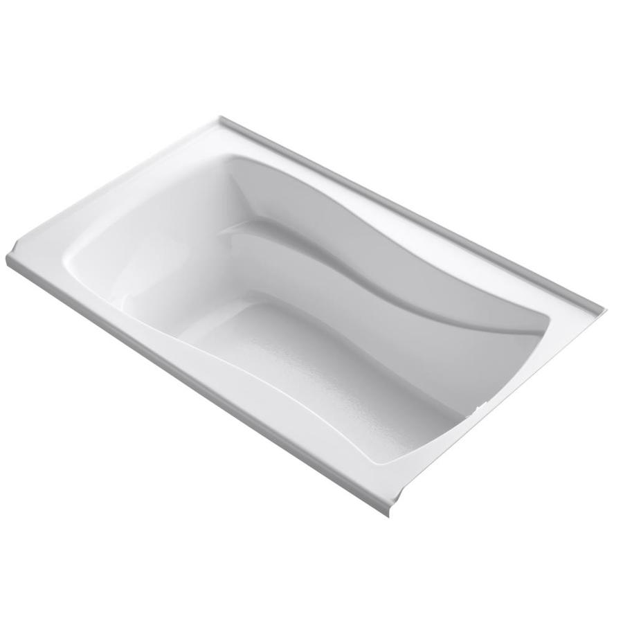 KOHLER Mariposa White Acrylic Hourglass in Rectangle Alcove Bathtub with Right-Hand Drain (Common: 36-in x 60-in; Actual: 20-in x 36-in x 60-in)