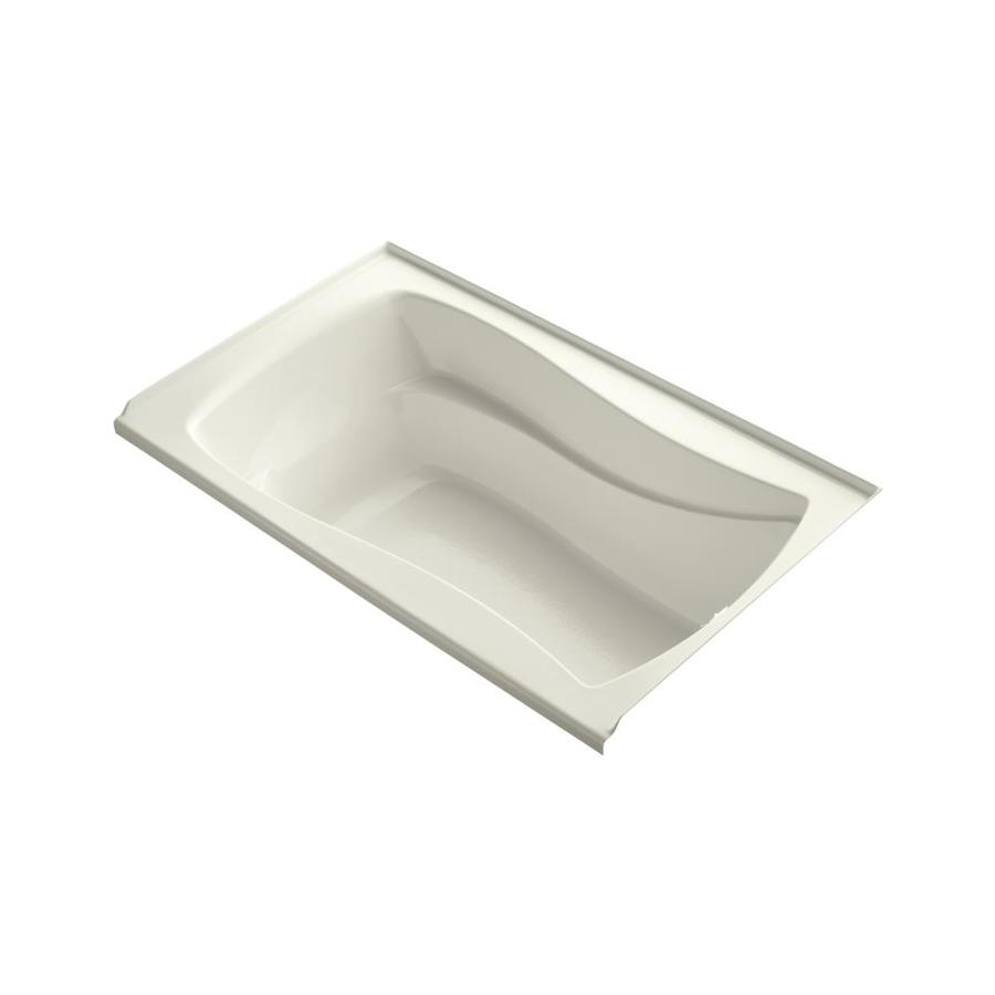 KOHLER Mariposa Biscuit Acrylic Hourglass In Rectangle Skirted Bathtub with Right-Hand Drain (Common: 36-in x 60-in; Actual: 20-in x 36-in x 60-in)