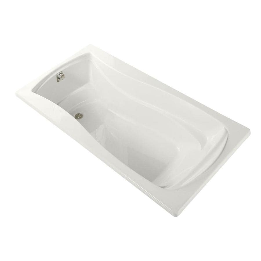 KOHLER Mariposa White Acrylic Hourglass In Rectangle Alcove Bathtub with Left-Hand Drain (Common: 36-in x 72-in; Actual: 20-in x 36-in x 72-in)