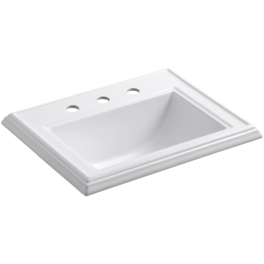 Bathroom Sinks Kohler : KOHLER Memoirs White Drop-in Rectangular Bathroom Sink with Overflow