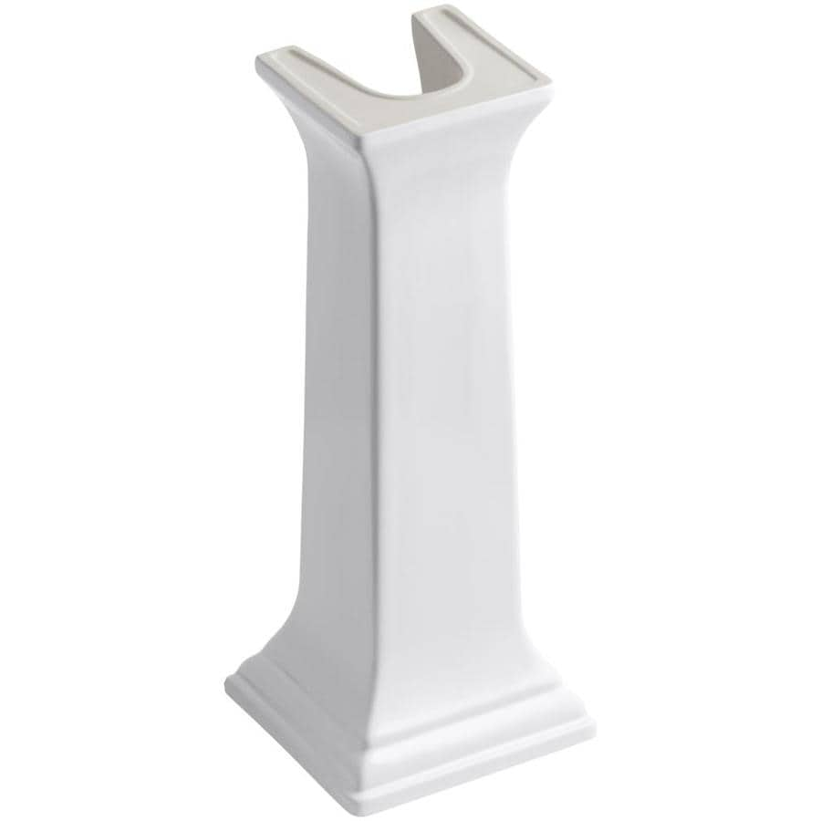KOHLER 27-3/8-in H Memoirs White Fireclay Pedestal Sink Base