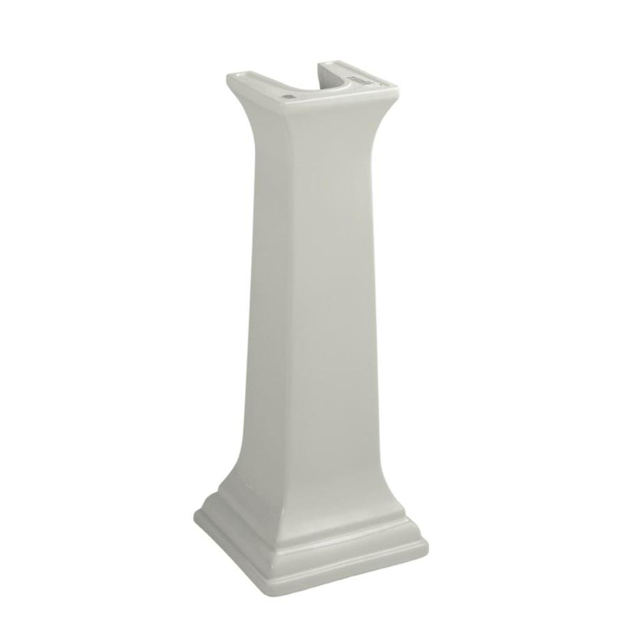 ... Memoirs 27.38-in H Ice Grey Fireclay Pedestal Sink Base at Lowes.com