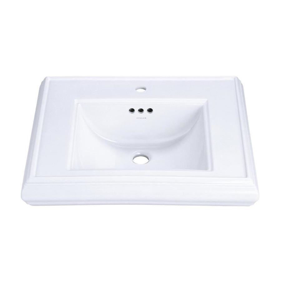 KOHLER Memoirs 24-in L x 19.75-in W White Fire Clay Rectangular Pedestal Sink Top