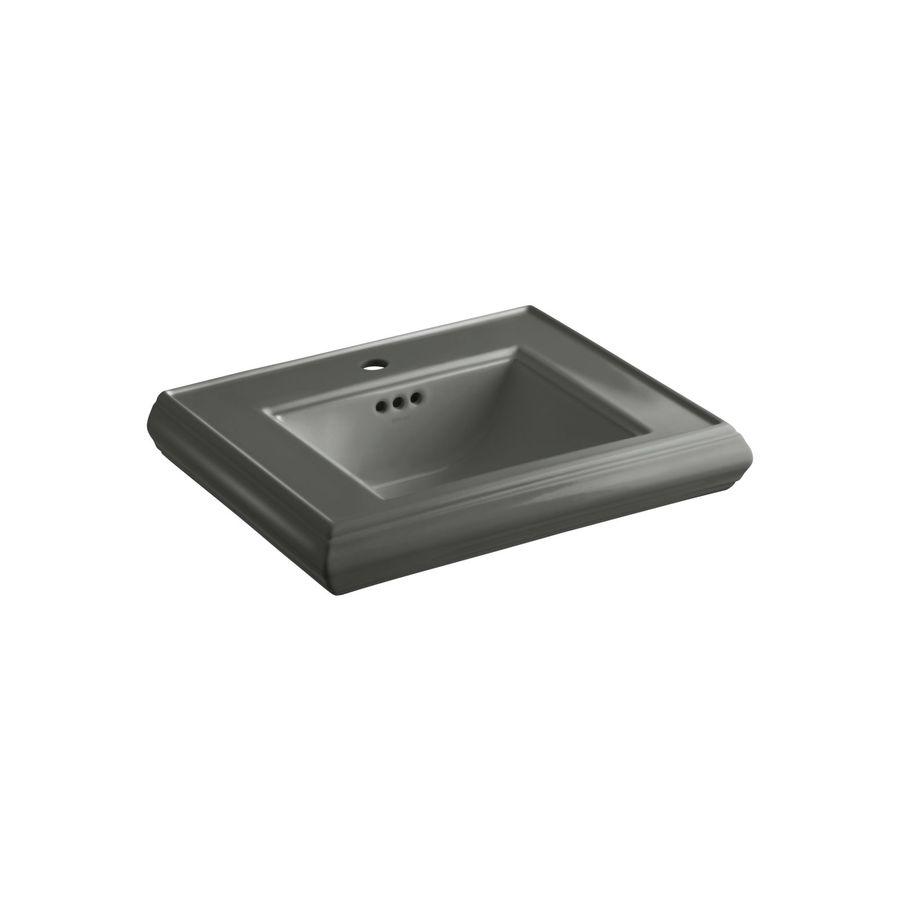 KOHLER Memoirs 24-in L x 19.75-in W Thunder Grey Fire Clay Rectangular Pedestal Sink Top