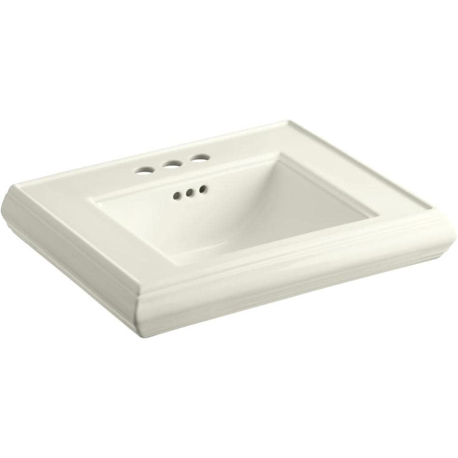 KOHLER Memoirs 24-in L x 19.75-in W Biscuit Fire Clay Rectangular Pedestal Sink Top