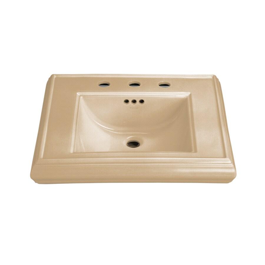 KOHLER 24-in L x 19.75-in W Mexican Sand Fire Clay Pedestal Sink Top
