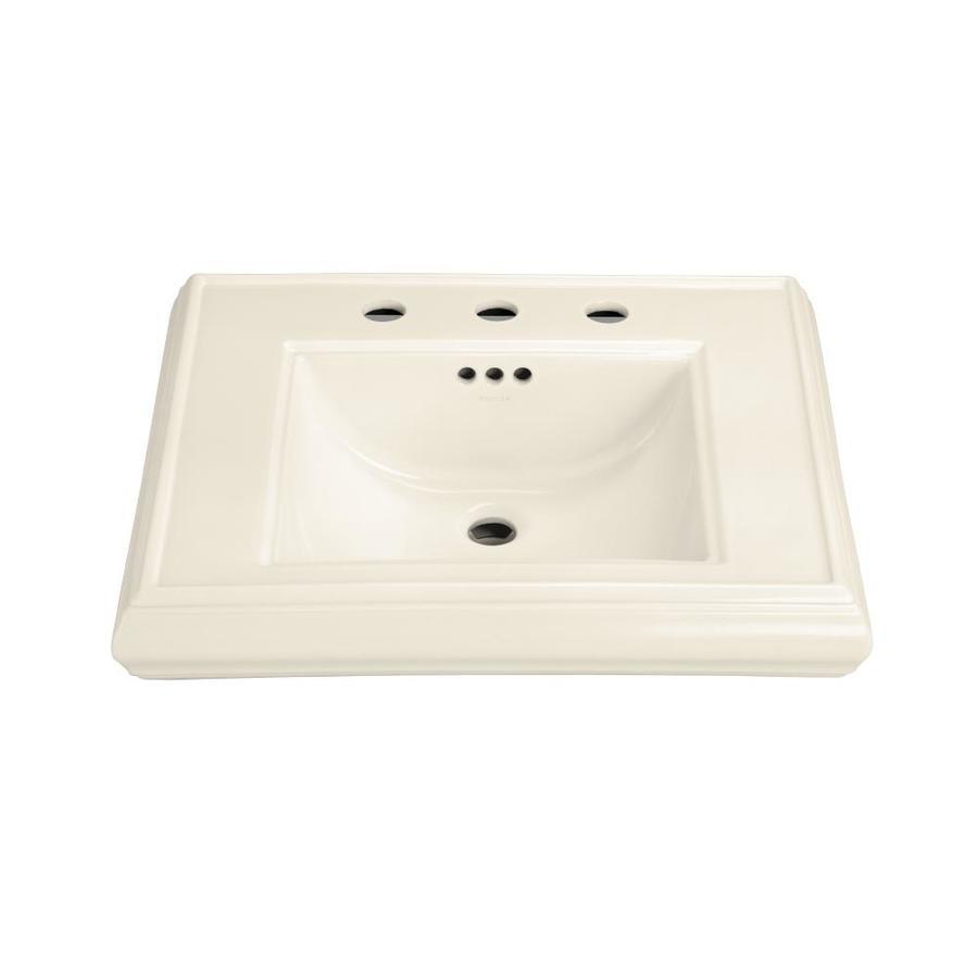 KOHLER Memoirs 24-in L x 19.75-in W Almond Fire Clay Rectangular Pedestal Sink Top