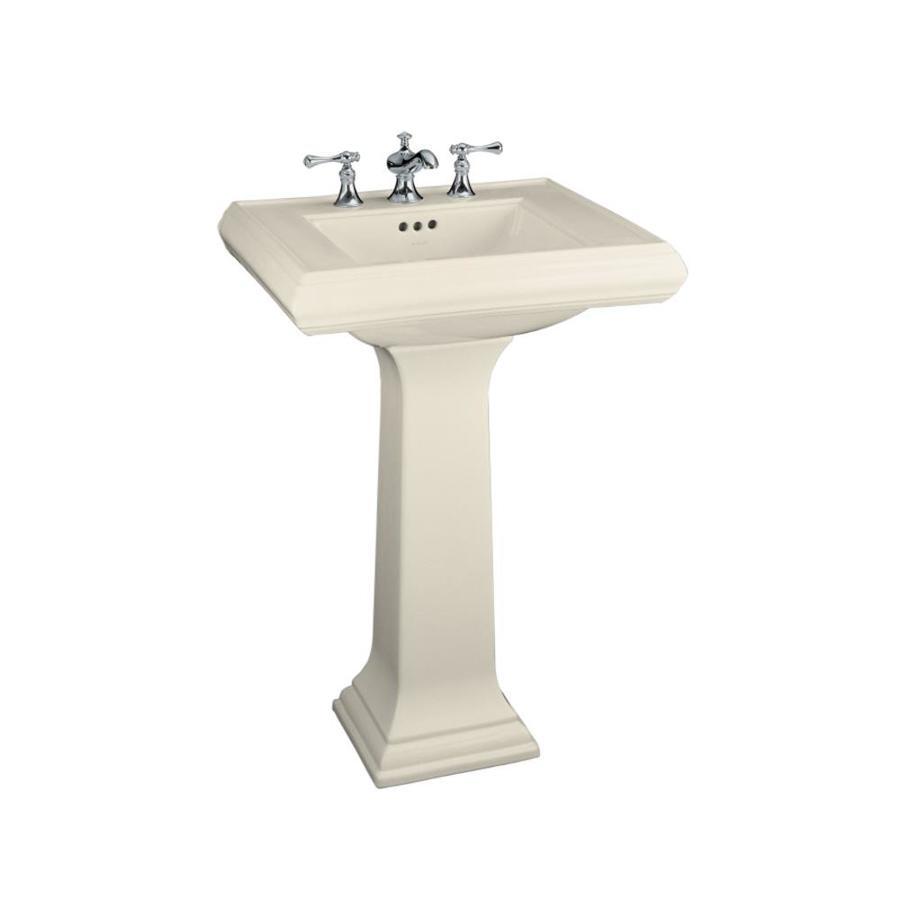 KOHLER Memoirs 34.38-in H Almond Fire Clay Pedestal Sink