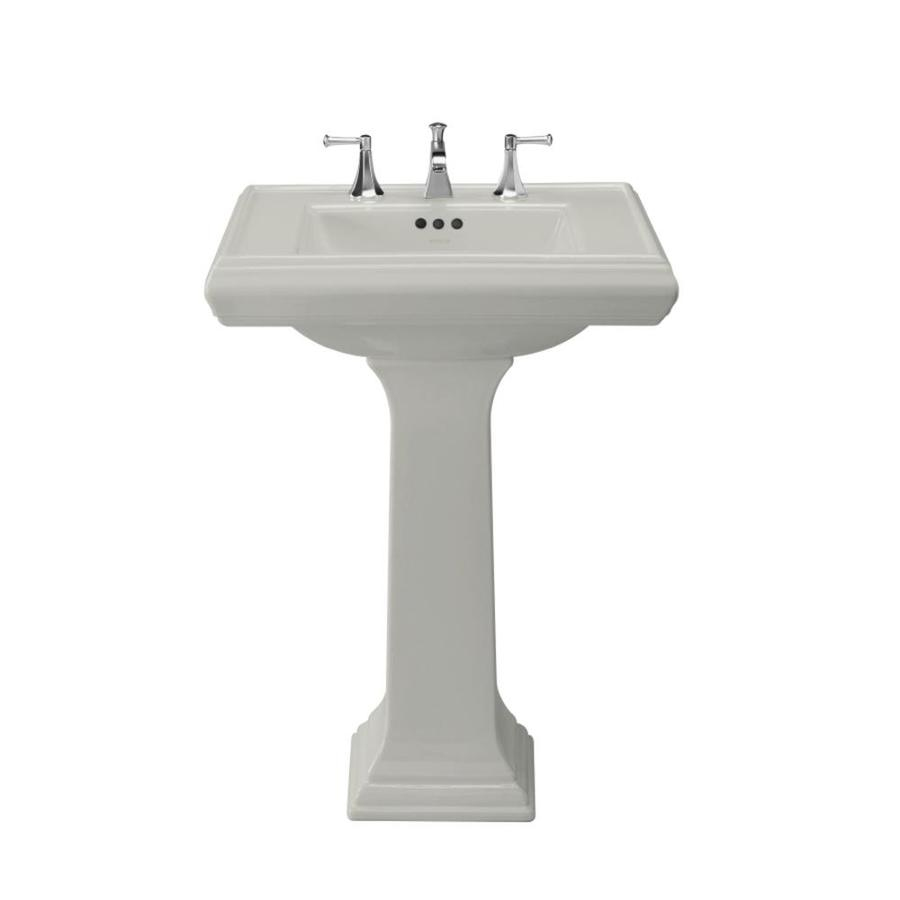Kohler Small Pedestal Sink : Shop KOHLER Memoirs 35-in H Ice Grey Fire Clay Pedestal Sink at Lowes ...