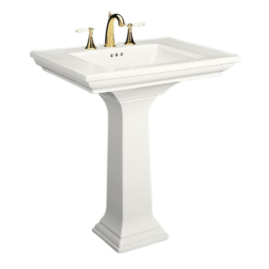 KOHLER Memoirs 34.75-in H White Fire Clay Complete Pedestal Sink