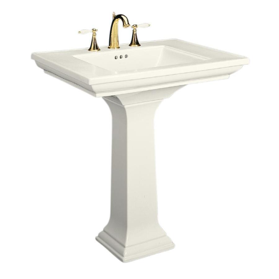 KOHLER Memoirs 34.75-in H Biscuit Fire Clay Pedestal Sink
