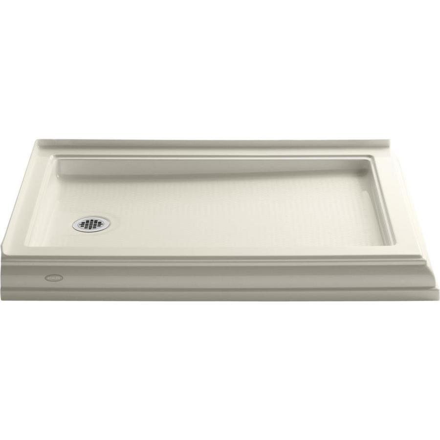 KOHLER Memoirs Almond Acrylic Shower Base (Common: 34-in W x 48-in L; Actual: 34-in W x 48-in L)