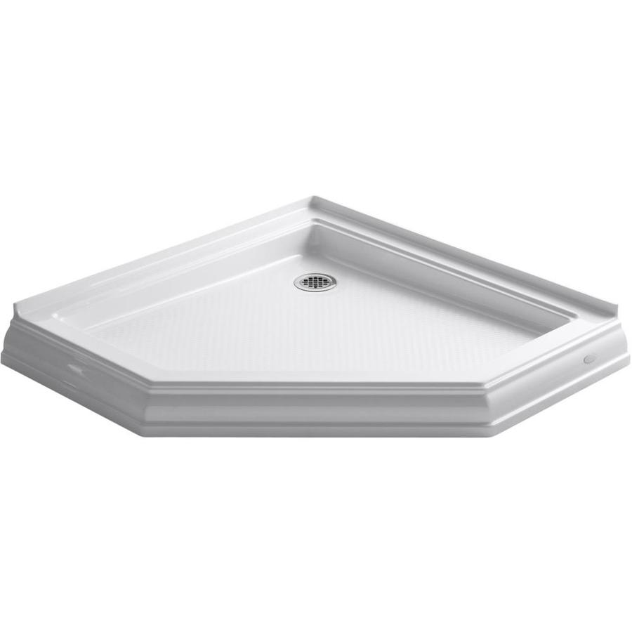 Shop Kohler Memoirs White Acrylic Shower Base Common 42