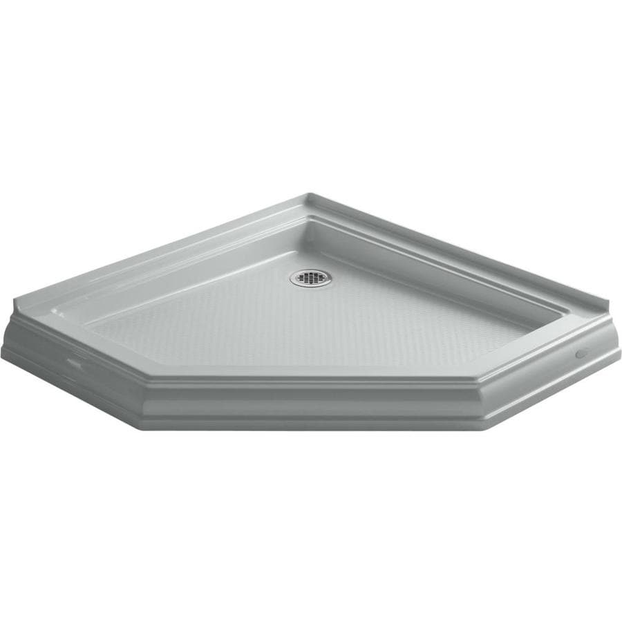 KOHLER Memoirs Ice Grey Acrylic Shower Base (Common: 42-in W x 42-in L; Actual: 42-in W x 42-in L)
