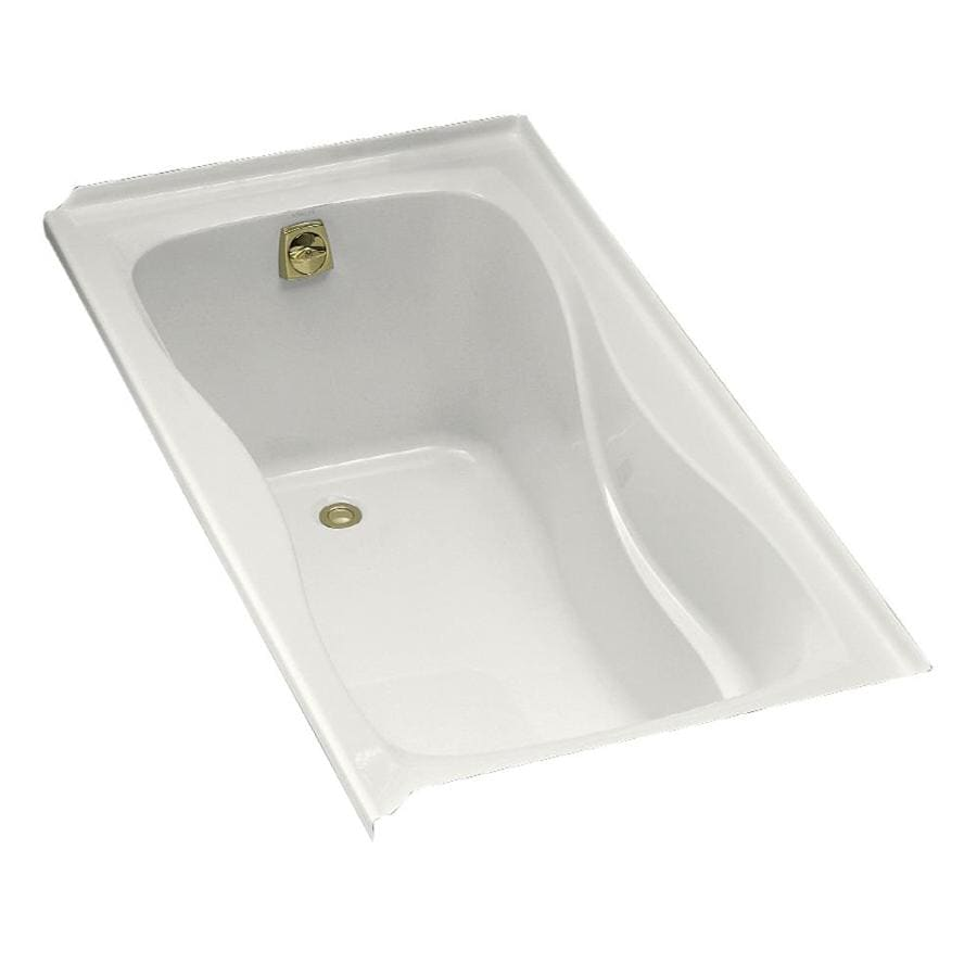 KOHLER Hourglass White Acrylic Hourglass In Rectangle Drop-in Bathtub with Left-Hand Drain (Common: 32-in x 60-in; Actual: 20-in x 32-in x 60-in)
