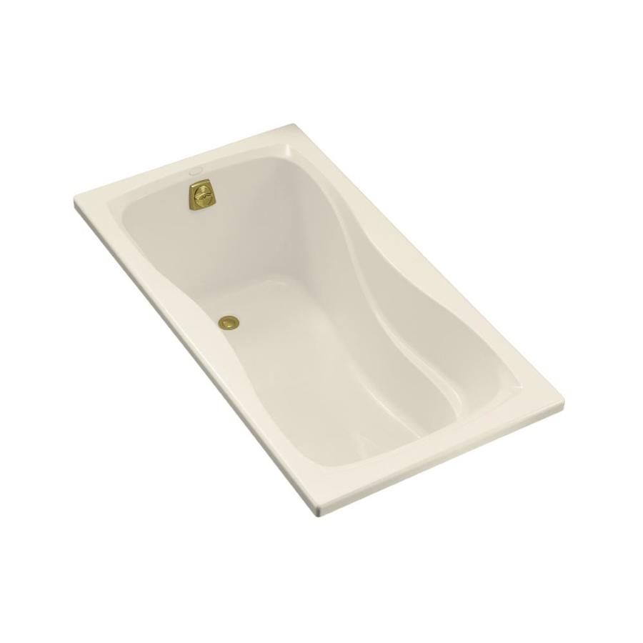 KOHLER Hourglass Almond Acrylic Hourglass In Rectangle Drop-in Bathtub with Reversible Drain (Common: 32-in x 60-in; Actual: 20-in x 32-in x 60-in)