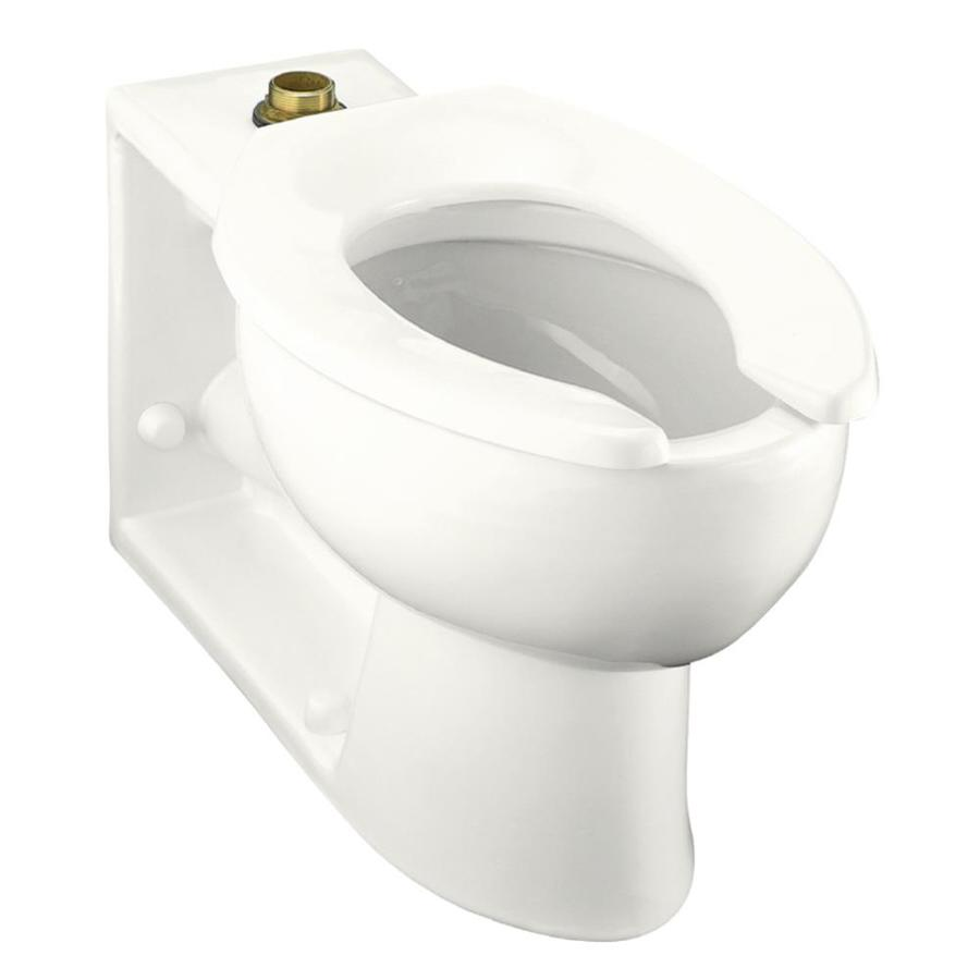 KOHLER Anglesey Standard Height White 4-1/2-in Rough-In Elongated Toilet Bowl