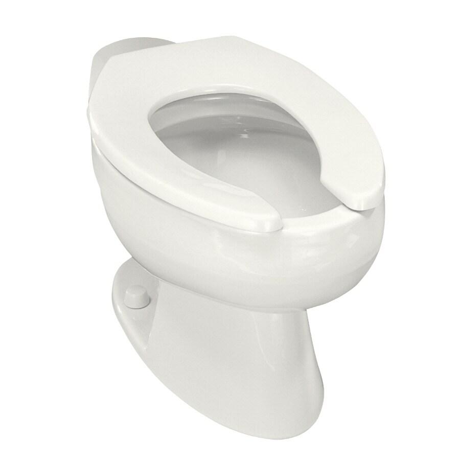 KOHLER Wellcomme Standard Height White 11-in Rough-in Elongated Toilet Bowl