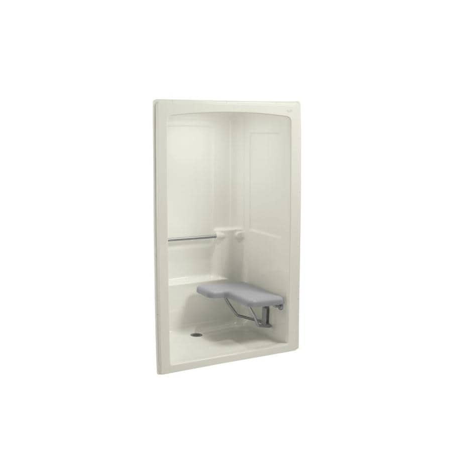shop kohler freewill biscuit acrylic one piece shower with