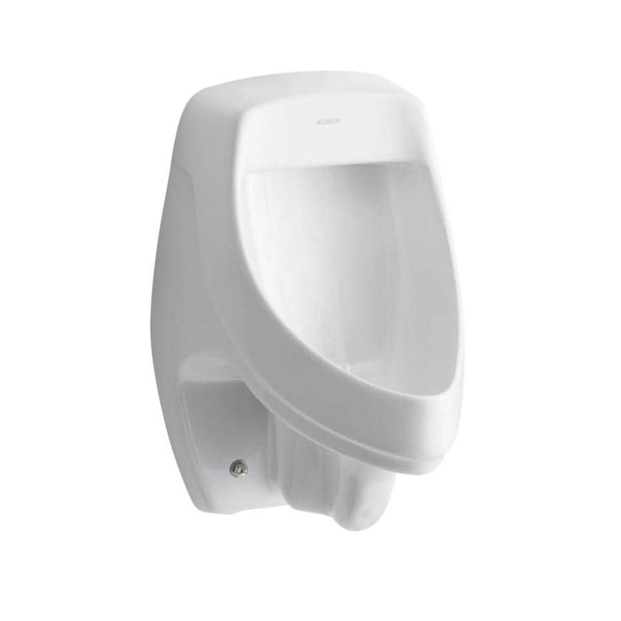 KOHLER 13.5-in W x 20.375-in H White Wall-Mounted Urinal