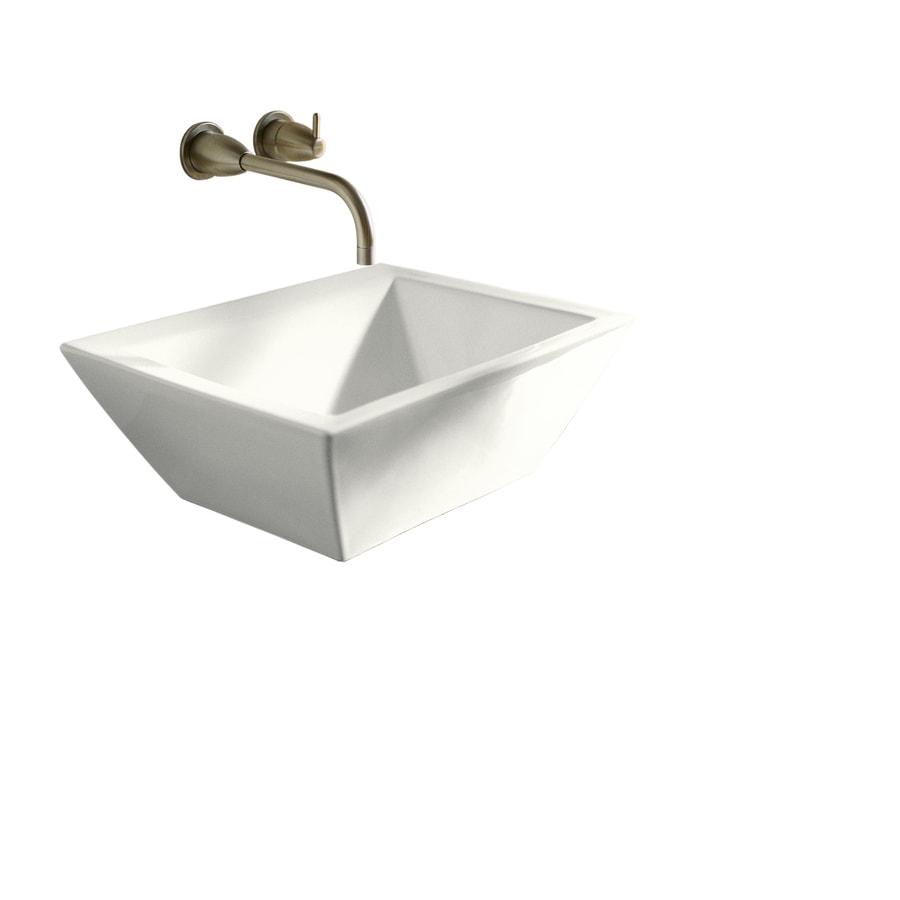 KOHLER Vessels White Vessel Rectangular Bathroom Sink