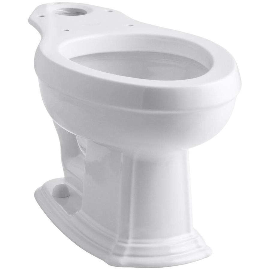 KOHLER Portrait Standard Height White 12-in Rough-In Elongated Toilet Bowl