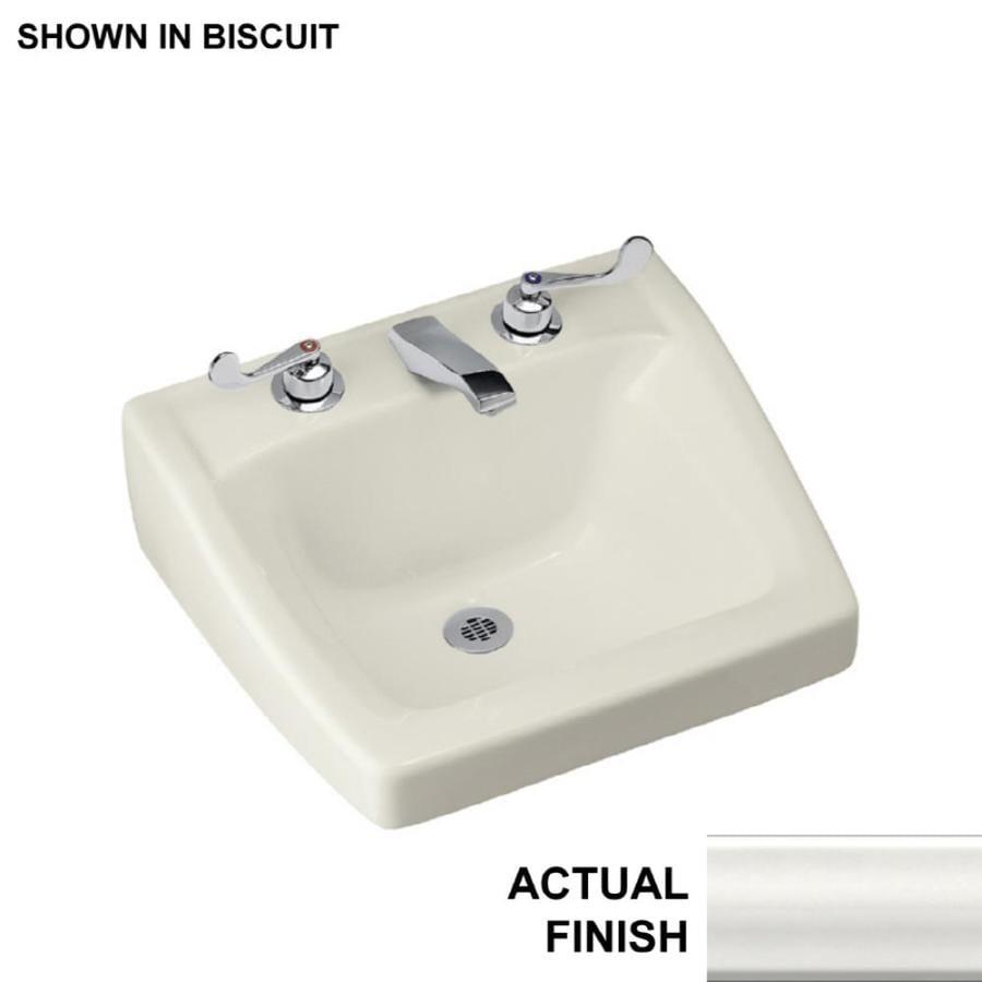 KOHLER Chesapeake White Wall-Mount Rectangular Bathroom Sink with Overflow