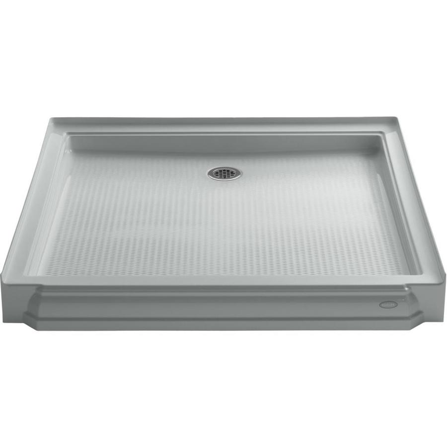 KOHLER Memoirs Ice Grey Acrylic Shower Base (Common: 48-in W x 48-in L; Actual: 48-in W x 48-in L)