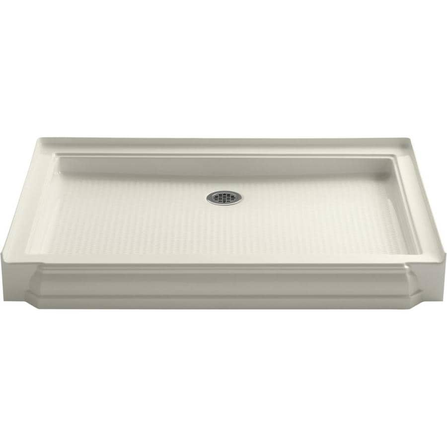 KOHLER Memoirs Biscuit Acrylic Shower Base (Common: 34-in W x 48-in L; Actual: 34-in W x 48-in L)