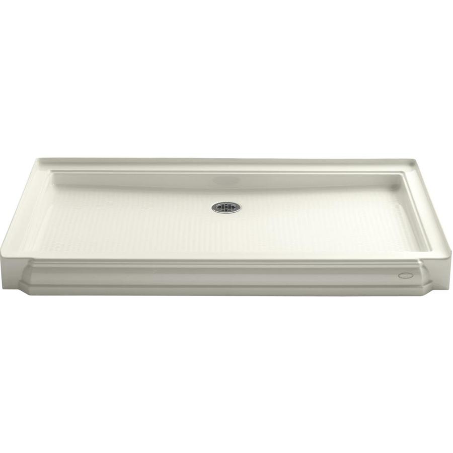 KOHLER Memoirs Biscuit Acrylic Shower Base (Common: 34-in W x 60-in L; Actual: 34-in W x 60-in L)