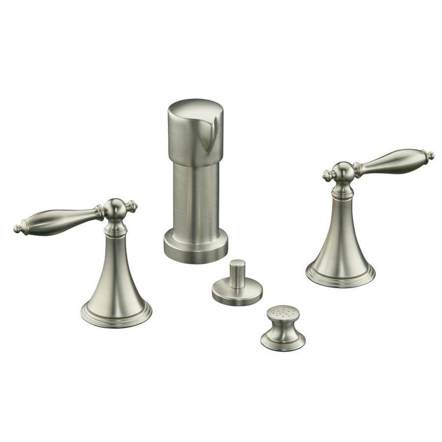KOHLER Finial Vibrant Brushed Nickel Vertical Spray Bidet Faucet