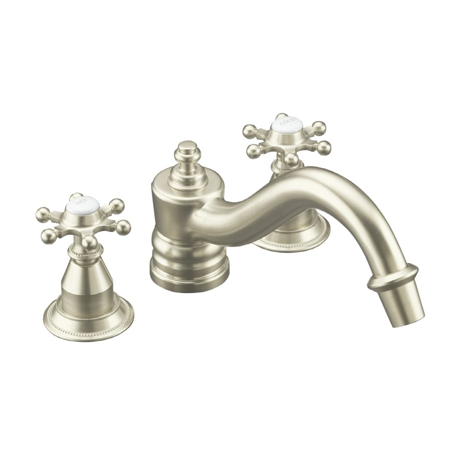 Kohler Antique Kitchen Faucet: Shop KOHLER Antique Vibrant Brushed Nickel 2-Handle Fixed