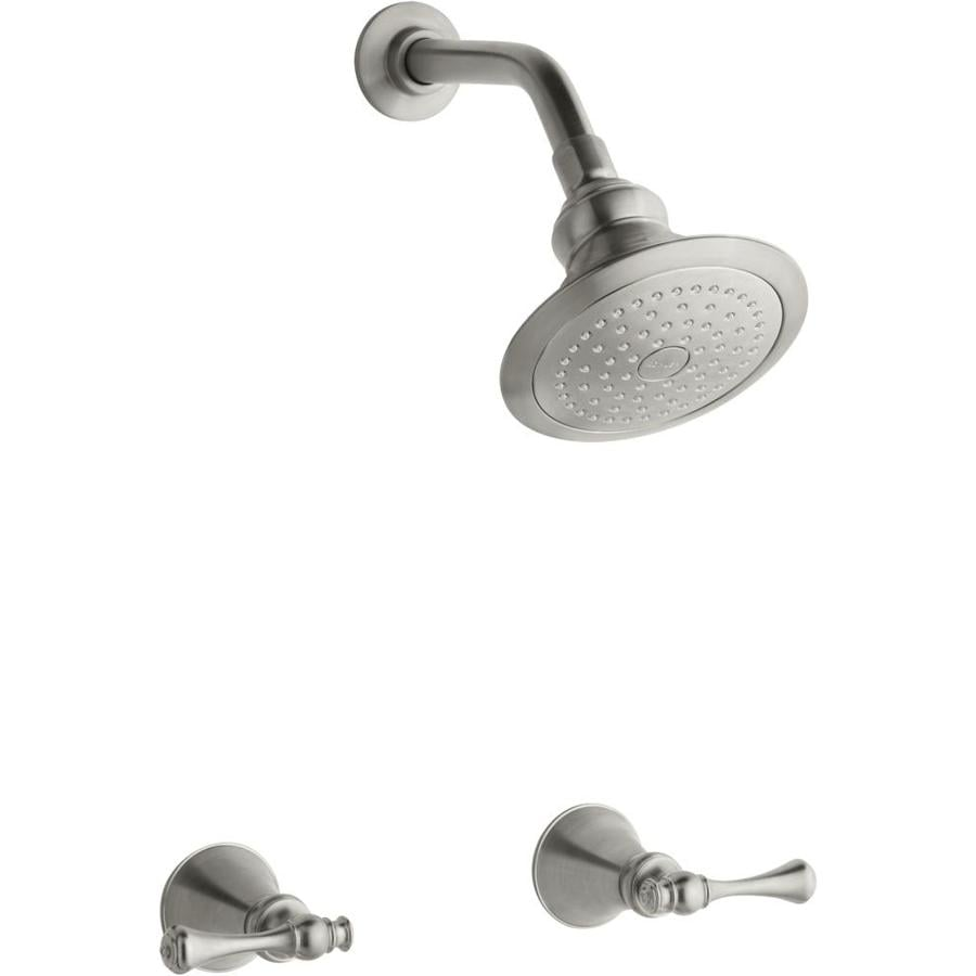 KOHLER Revival Vibrant Brushed Nickel 2-Handle Shower Faucet with Single Function Showerhead