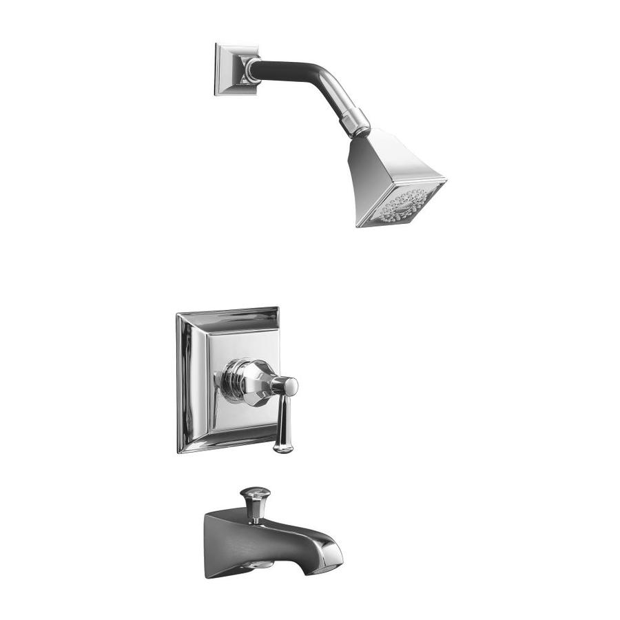 KOHLER Memoirs Polished Chrome 1-Handle Bathtub and Shower Faucet Trim Kit with Single Function Showerhead
