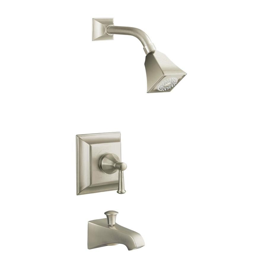 KOHLER Memoirs Vibrant Brushed Nickel 1-Handle Bathtub and Shower Faucet Trim Kit with Single Function Showerhead