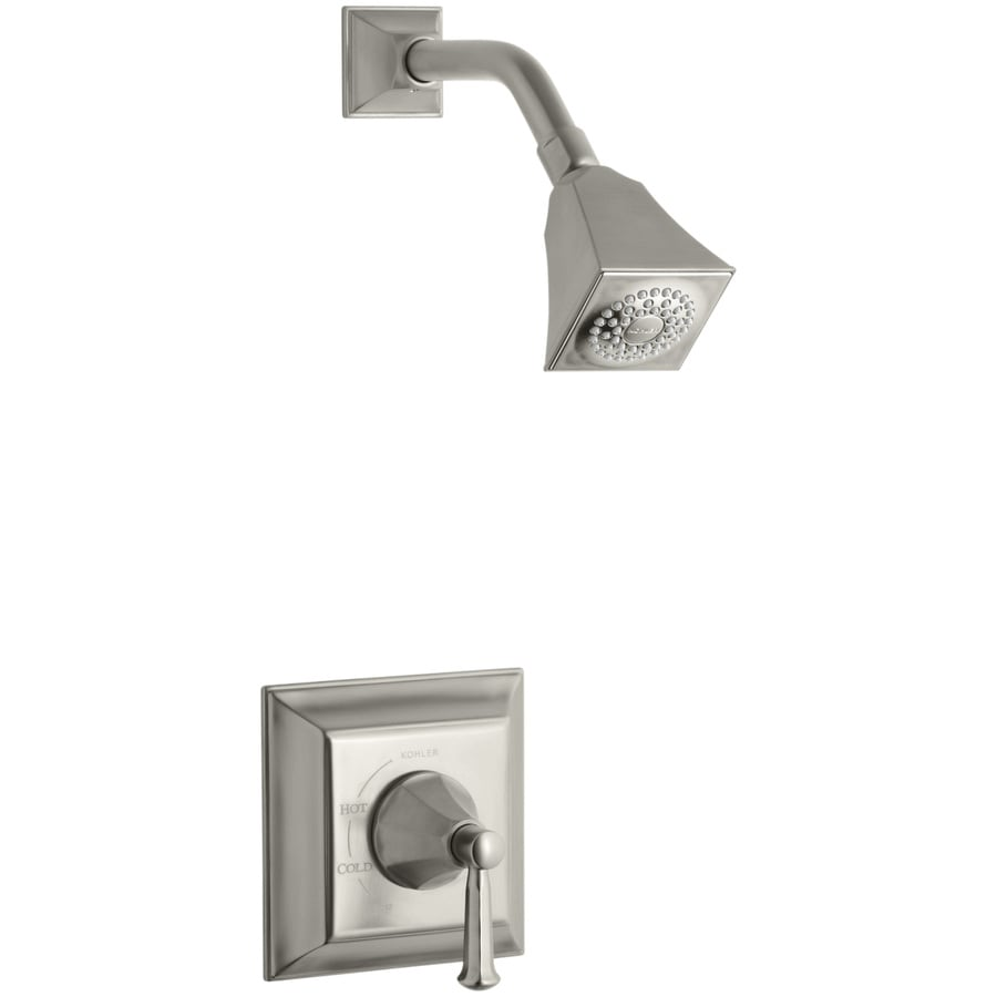 KOHLER Memoirs Vibrant Brushed Nickel 1-Handle Shower Faucet Trim Kit with Single Function Showerhead