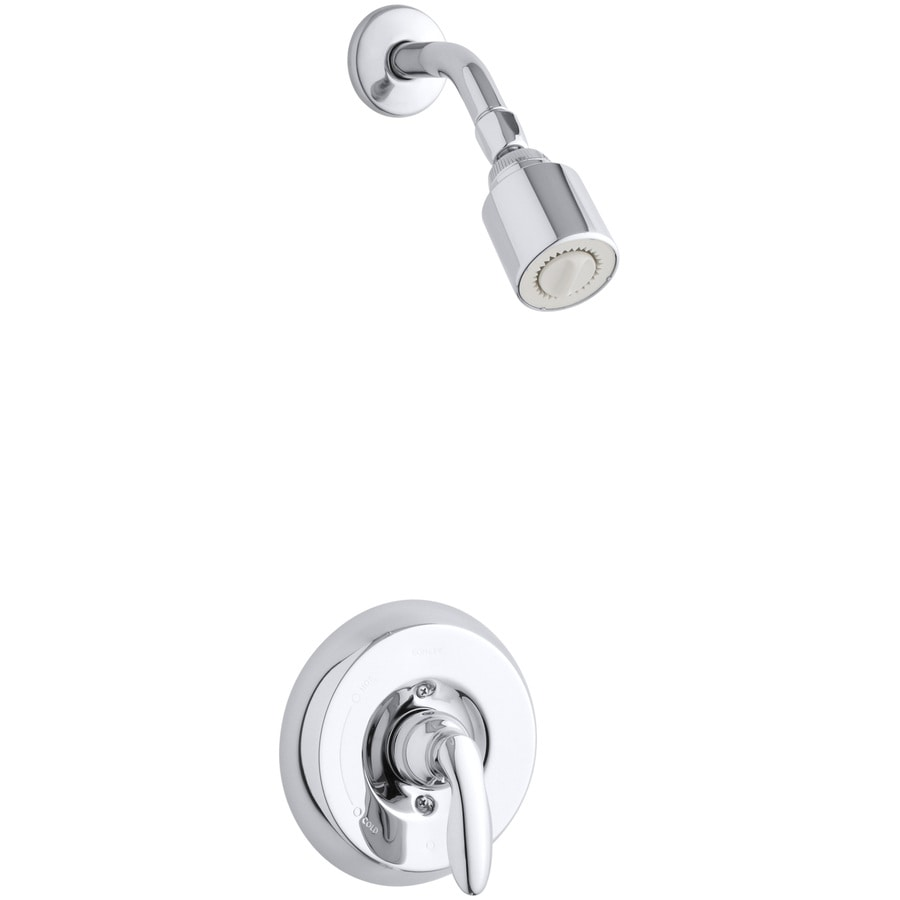 KOHLER Coralais Polished Chrome 1-Handle Shower Faucet Trim Kit with Single Function Showerhead