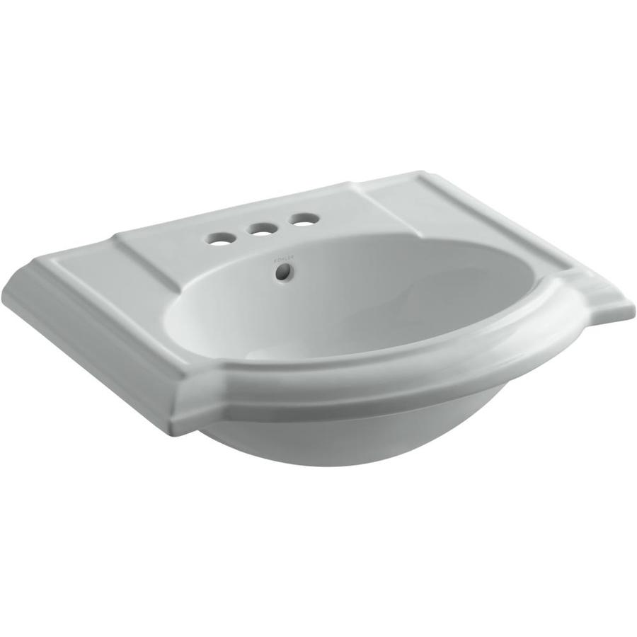 KOHLER 24.13-in L x 19.75-in W Ice Grey Vitreous China Pedestal Sink Top