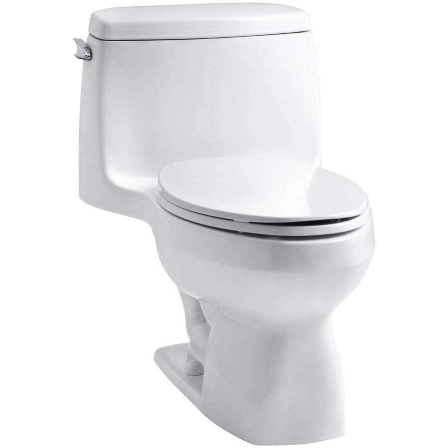 KOHLER Santa Rosa White 1.6-GPF (6.06-LPF) 12 Rough-In Elongated 1-Piece Standard Height Toilet