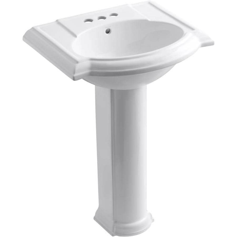 Kohler Pedestal : Shop KOHLER Devonshire 33.5-in H White Vitreous China Pedestal Sink at ...