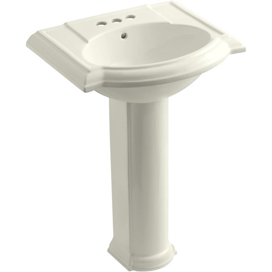 KOHLER Devonshire 33.5-in H Biscuit Vitreous China Pedestal Sink
