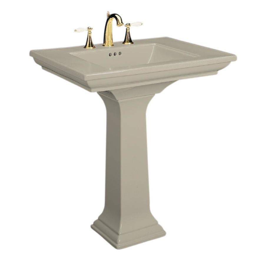 KOHLER Memoirs 34.75-in H Sandbar Fire Clay Pedestal Sink