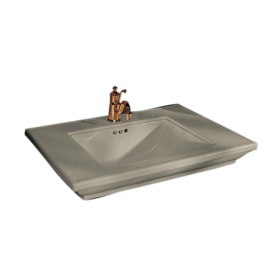 KOHLER Memoirs Sandbar Fire Clay Drop-in Rectangular Bathroom Sink with Overflow