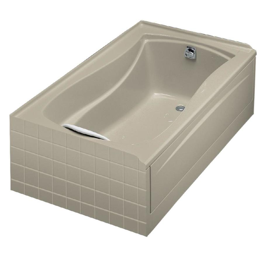 KOHLER Mariposa Sandbar Acrylic Hourglass In Rectangle Drop-in Bathtub with Right-Hand Drain (Common: 36-in x 60-in; Actual: 20-in x 36-in x 60-in)
