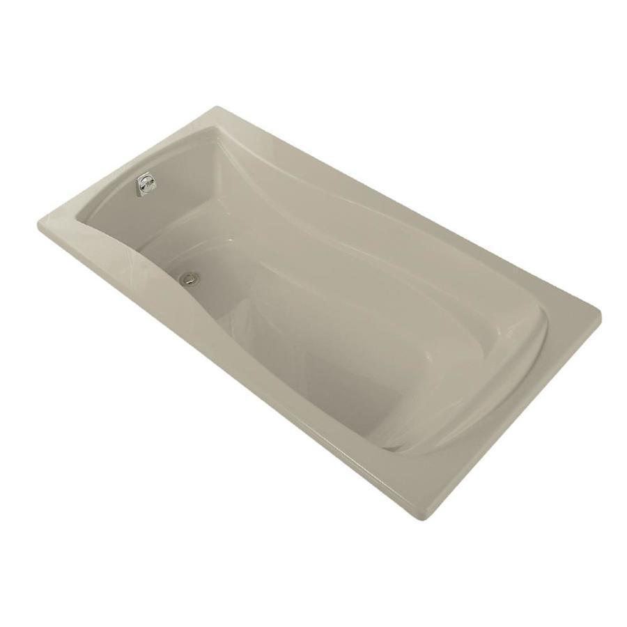 KOHLER Mariposa Sandbar Acrylic Hourglass In Rectangle Drop-in Bathtub with Left-Hand Drain (Common: 36-in x 72-in; Actual: 20-in x 36-in x 72-in)