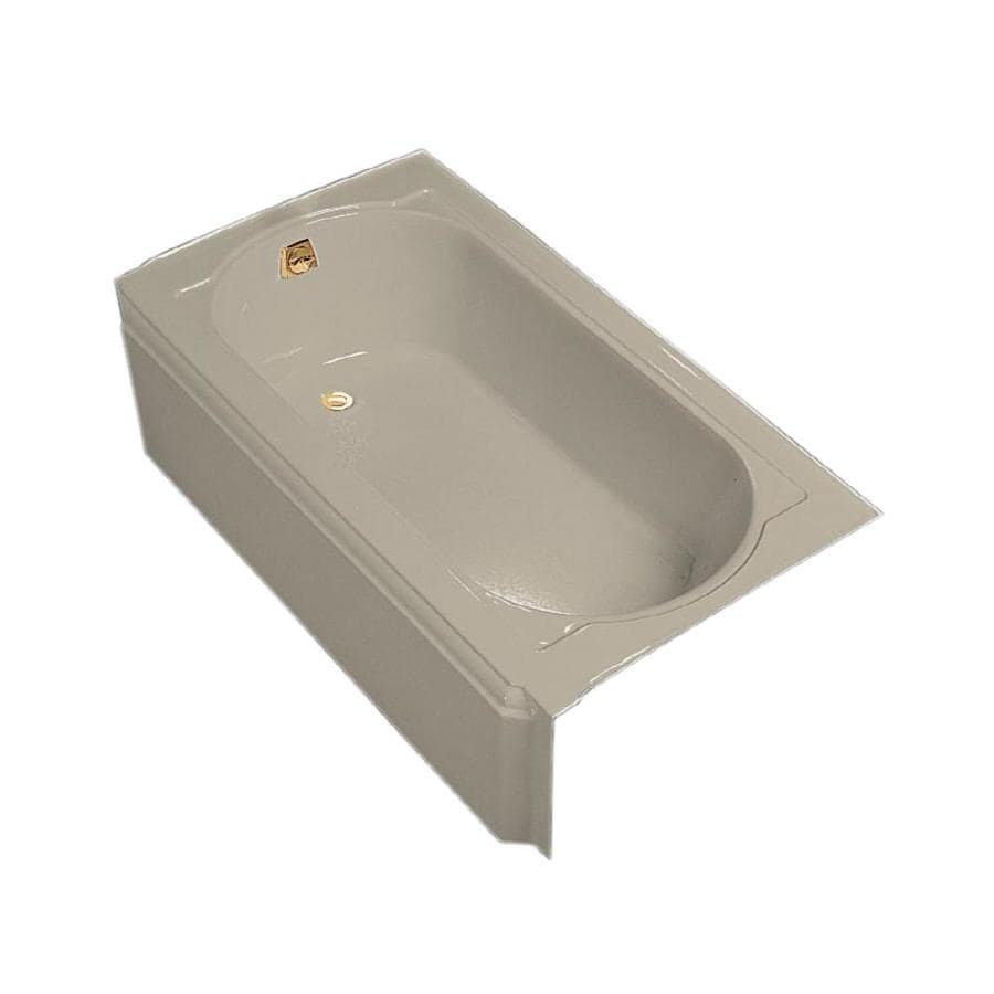 KOHLER Memoirs Sandbar Cast Iron Oval In Rectangle Skirted Bathtub with Left-Hand Drain (Common: 31-in x 60-in; Actual: 17.44-in x 33.75-in x 60-in)