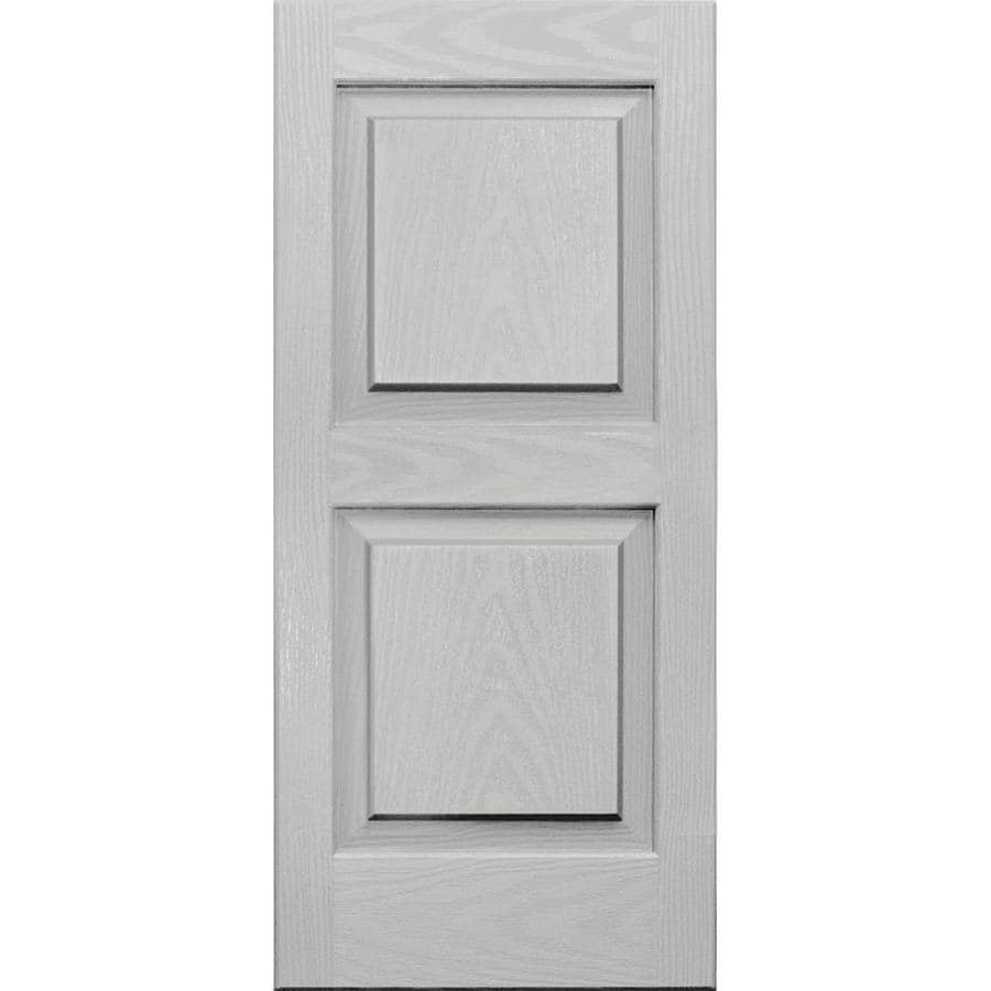 Vantage 2-Pack Paintable Raised Panel Vinyl Exterior Shutters (Common: 14-in x 31-in; Actual: 14-in x 31.0625-in)
