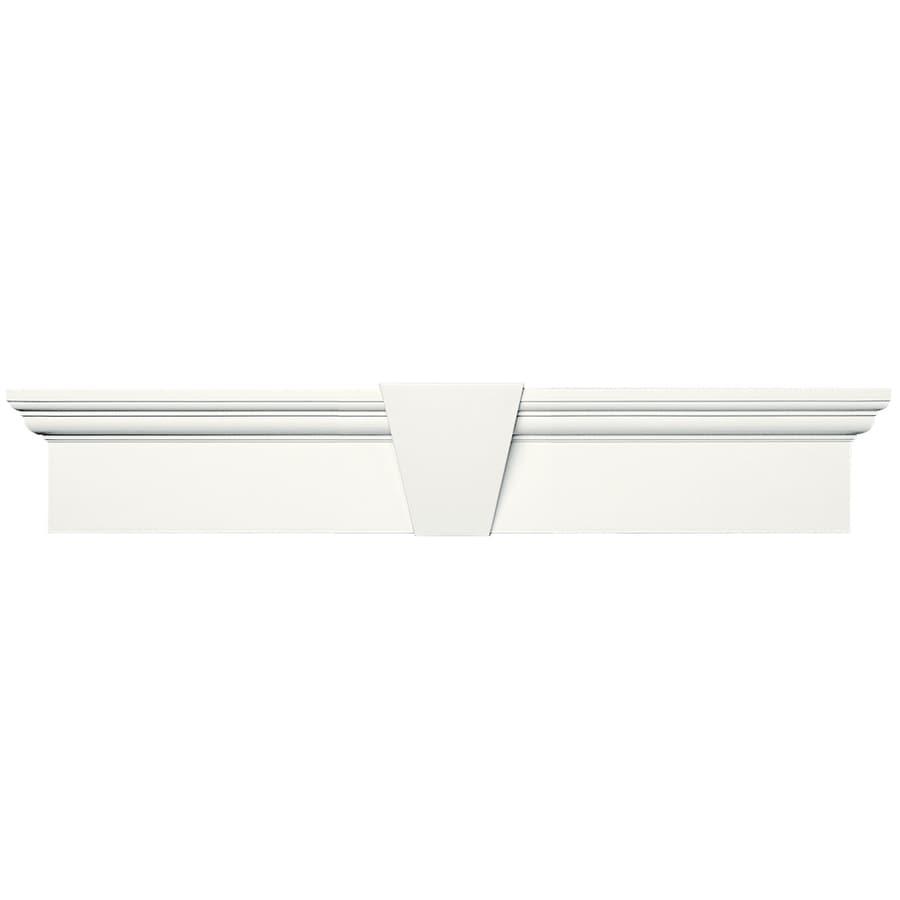 Vantage 37.375-in x 8.875-in White Vinyl Window Header