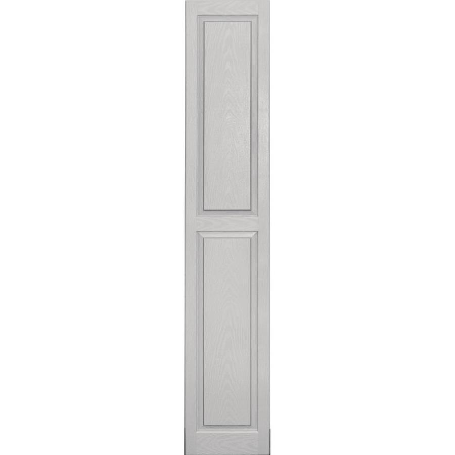 Vantage 2-Pack Paintable Raised Panel Vinyl Exterior Shutters (Common: 14-in x 80-in; Actual: 14-in x 80.4375-in)